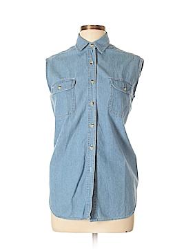Giorgio Sant'Angelo Sleeveless Button-Down Shirt Size M