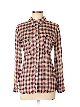 Melrose Long Sleeve Button-Down Shirt Size M