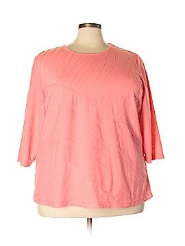 Rebecca Malone 3/4 Sleeve Top Size 3X (Plus)