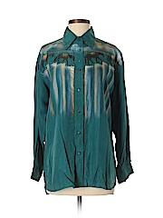 Wanted Women Long Sleeve Silk Top Size S