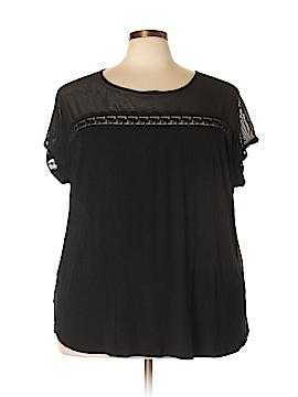 Linda Matthews Short Sleeve Top Size 3X (Plus)
