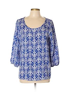 Blue Rain 3/4 Sleeve Blouse Size L