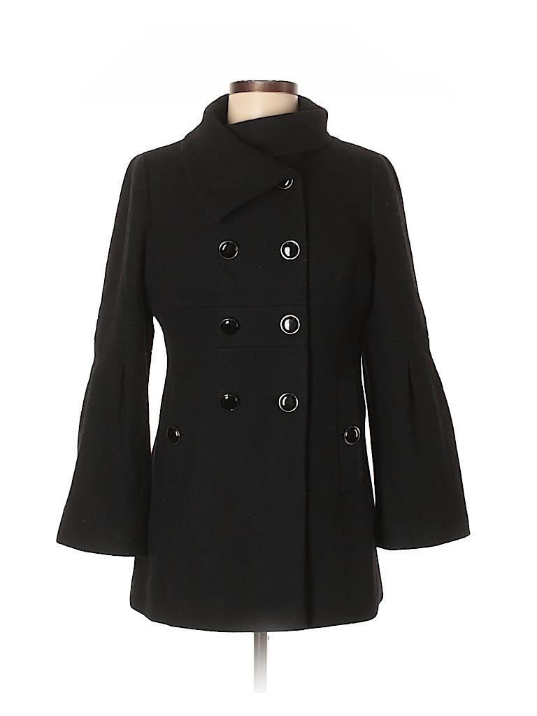2f920a710b4 Ann Taylor LOFT Solid Black Wool Coat Size 6 (Petite) - 73% off ...