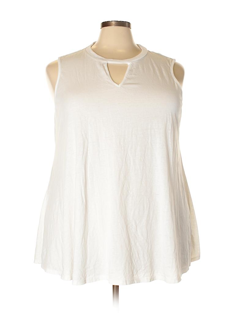 Olivia Sky Women Sleeveless Top Size 3X (Plus)