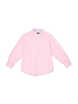 E-Land American Long Sleeve Button-Down Shirt Size 4