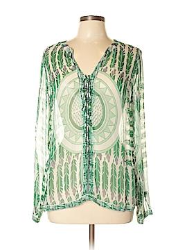 Antik Batik Long Sleeve Silk Top Size L