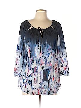 Elie Tahari for Nordstrom 3/4 Sleeve Silk Top Size M