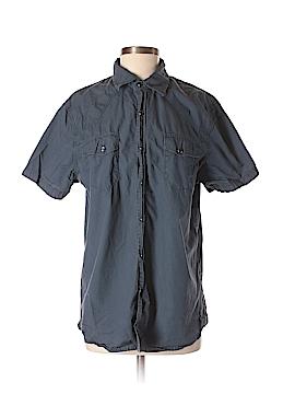 Converse One Star Short Sleeve Button-Down Shirt Size M