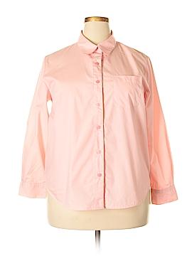 Joanna Plus Long Sleeve Button-Down Shirt Size 1X (Plus)