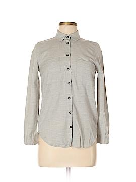 Topshop Long Sleeve Button-Down Shirt Size 2