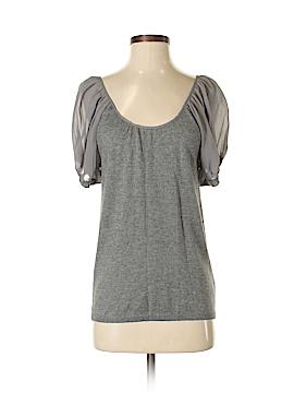 Velvet Short Sleeve Silk Top Size P