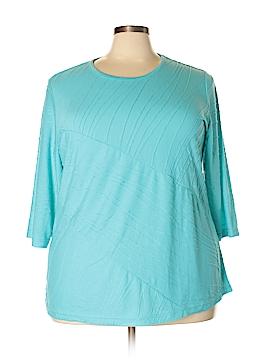 Rebecca Malone 3/4 Sleeve Top Size 2X (Plus)