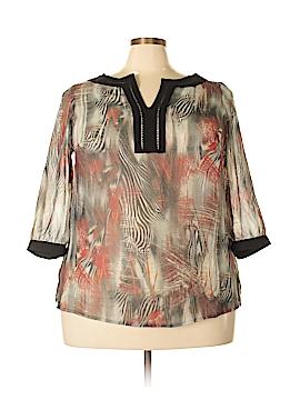 Carole Little Short Sleeve Blouse Size 1X (Plus)