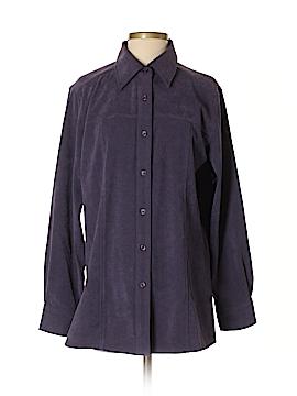 Denim & Co Long Sleeve Button-Down Shirt Size S