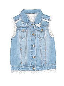 Say What? Denim Vest Size 6/6X