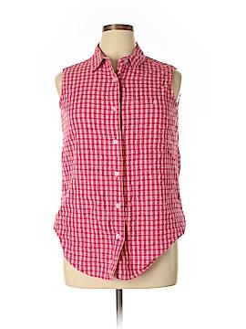 Basic Editions Sleeveless Button-Down Shirt Size 18 (Plus)