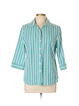 Kim Rogers 3/4 Sleeve Button-Down Shirt Size 12 (Petite)