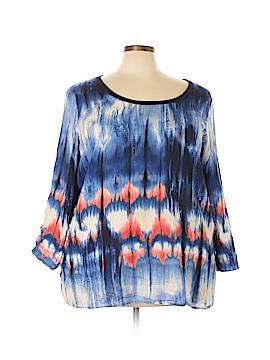 Karen Kane 3/4 Sleeve Blouse Size 3X (Plus)