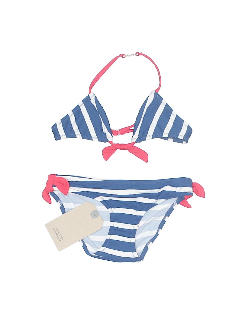 c53cbf442fa48 Zara Stripes Navy Blue Two Piece Swimsuit Size 6 - 7 - 60% off | thredUP