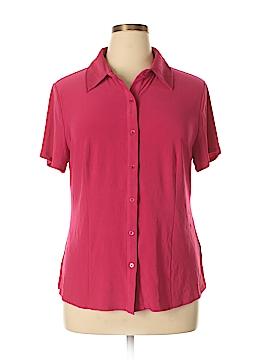 Alex Marie Short Sleeve Button-Down Shirt Size XL
