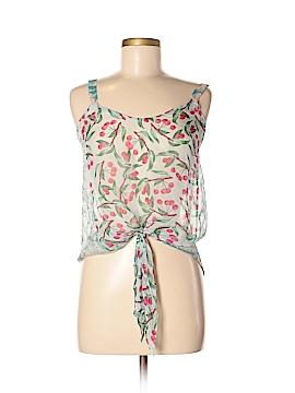 Language Sleeveless Silk Top Size XS