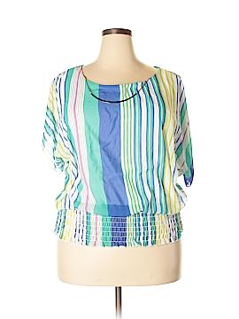 Blush Short Sleeve Blouse Size 1X (Plus)