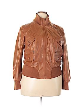 Last Kiss Faux Leather Jacket Size 2X (Plus)