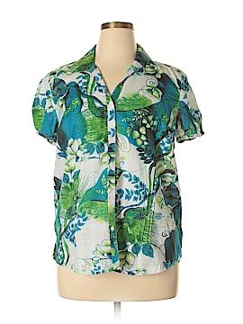 IB Diffusion Short Sleeve Button-Down Shirt Size XL