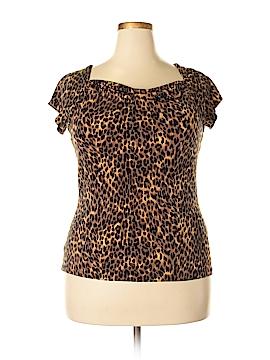 Liz & Co Short Sleeve Top Size XL