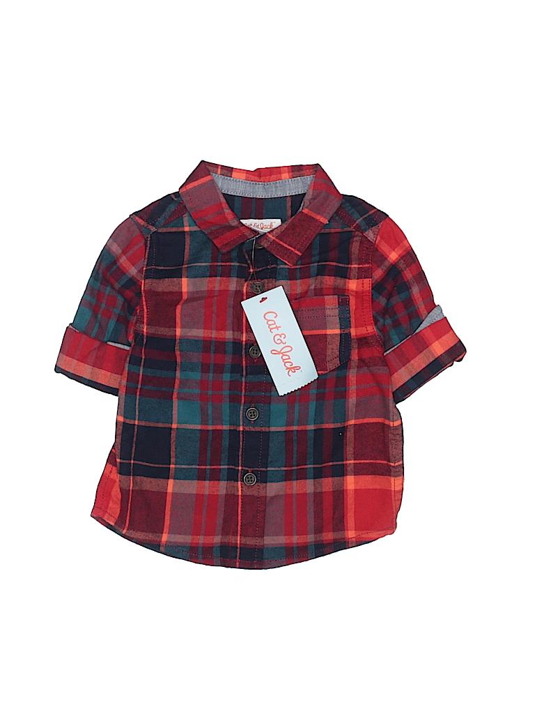 262fa5b1 Pin it Pin It Button Cat & Jack Boys Short Sleeve Button-Down Shirt Size 12  mo