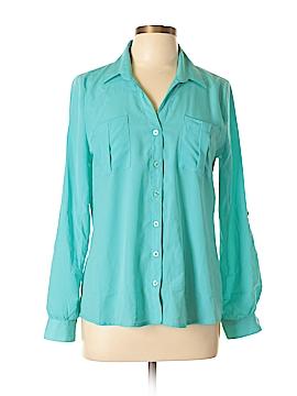 Blu Pepper Long Sleeve Button-Down Shirt Size L