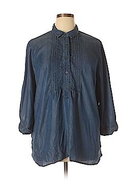 Intro 3/4 Sleeve Button-Down Shirt Size XL