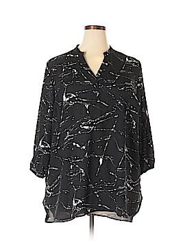 Boutique + 3/4 Sleeve Blouse Size 1X (Plus)