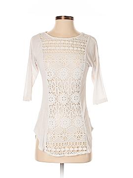 Lily White 3/4 Sleeve T-Shirt Size XS