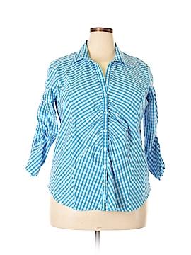 Jessica London 3/4 Sleeve Button-Down Shirt Size 16