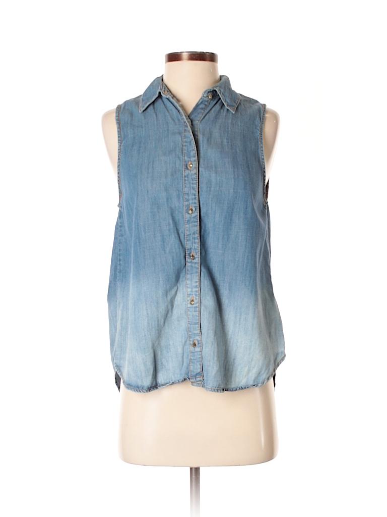 Life in Progress Women Sleeveless Button-Down Shirt Size XS