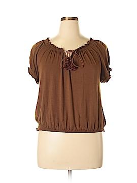 INC International Concepts Short Sleeve Top Size XL
