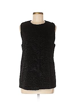 Adrianna Papell Faux Fur Vest Size M