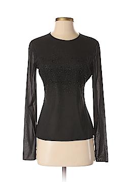 Tahari Long Sleeve Silk Top Size 4