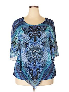Energe World Wear 3/4 Sleeve Blouse Size 2X (Plus)