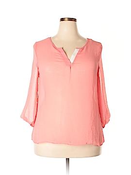 Ultra Flirt 3/4 Sleeve Blouse Size 1X (Plus)
