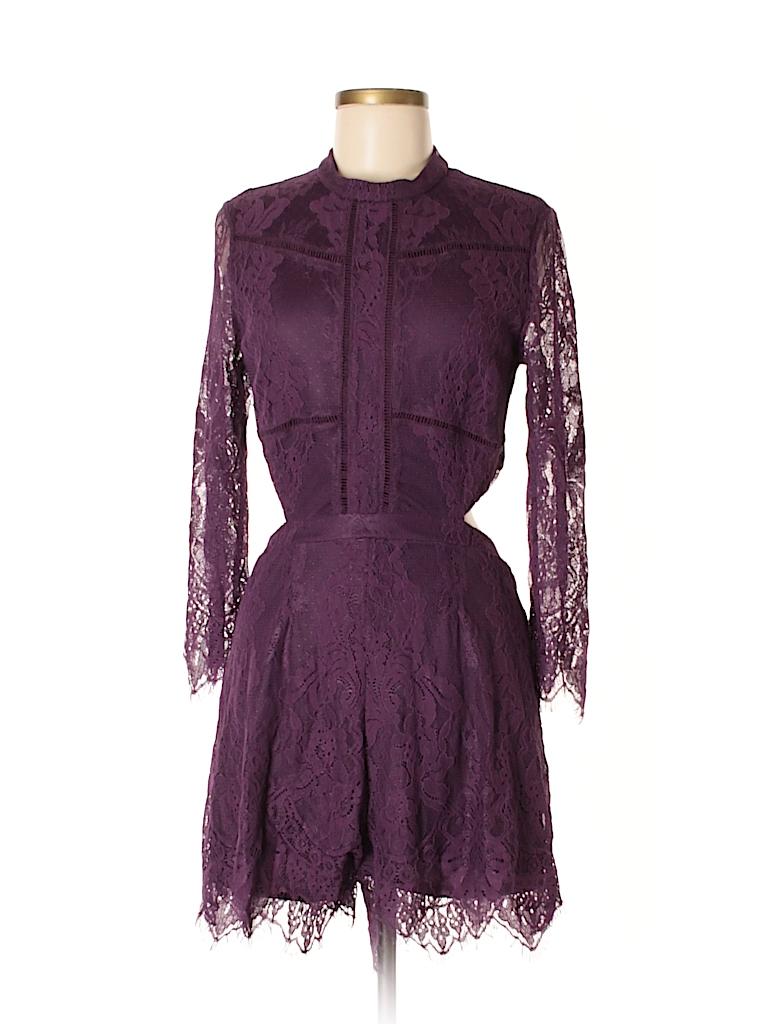 7c5ea8471e3 Xhilaration Lace Dark Purple Romper Size M - 46% off