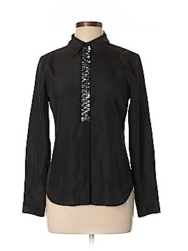 Black Saks Fifth Avenue Long Sleeve Blouse Size 4
