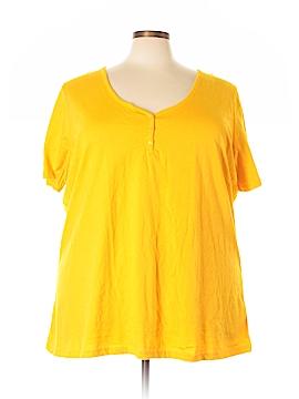 Roaman's Short Sleeve Henley Size 30 (3X) (Plus)