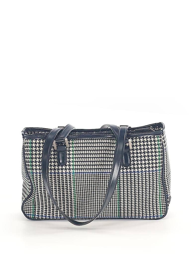 449bc37657 Lauren by Ralph Lauren Houndstooth Navy Blue Shoulder Bag One Size ...