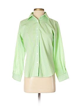 Foxcroft Long Sleeve Button-Down Shirt Size 2 (Petite)
