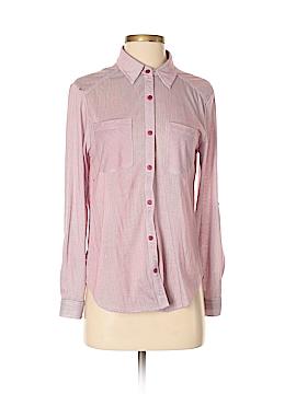 Passport Long Sleeve Button-Down Shirt Size S