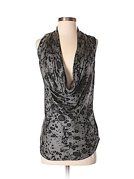 Flounce Sleeveless Silk Top Size S