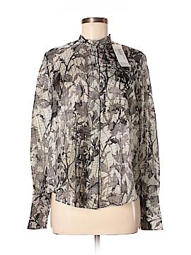 Gary Graham Long Sleeve Silk Top Size 6