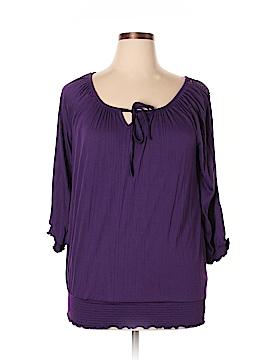 Debbie Morgan 3/4 Sleeve Top Size M